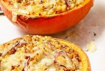 RECIPES // Pumpkin - Kürbis / Sweet & savory recipes with pumpkin for cooking, baking & more. Delicious pumpkin comes over in soup, rice, noddles, pizza, cake, cupcakes and everything else we love these autumn days
