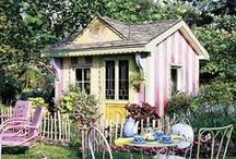 Little Houses/Retreats / Darling little spaces for reflection, creation, or play. :) I just LOVE tiny houses!!! And am gathering inspiration for my own little playhouse.  / by LaBelle Mariposa