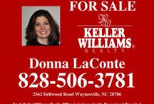 """~*~ Real Estate ~*~ / Broker/REALTOR with KELLER WILLIAMS in Waynesville, NC.  ** Mountain, North Carolina, Smoky Mountains, Appalachian, Vacation Home, Waterfront, Horse Property, New House, Real Estate, Equestrian, Luxury Home, Golf Course, Lake, River, Beach, Tropical, Rustic, Spanish, Log Cabin, Cabin, Lodge, Meditteranean, FLORIDA, Orlando,  Lake Mary,  Rural, Farm, Prepper, Sylva, Waynesville, Maggie Valley, Bryson City, Dillsboro.  www.donnalaconte.kwrealty.com """"Search HOMES here"""""""
