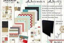 Swirlcards - December Daily / Les réalisations faites avec le kit December Daily Swirlcards