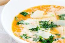 Recetas de cremas y sopas / Recetas de cremas caseras de verduras, cremas y sopas ligeras perfectas como entrante de cualquier comida.