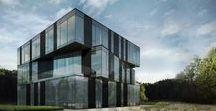 Budynek biurowy, kujawsko-pomorskie / Powierzchnia całkowita: 1 264.63 m²/ Pozwolenie na budowę 2016 rok / Wizualizacje: Ideograf