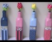 vázy z lahví apod.