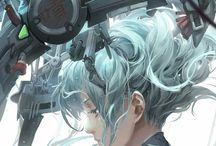 Cyborg anime characters