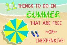 Kids Summer Activities / Things to do with the kids this summer!