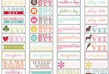 Printables / Printables for Planners and Project Life