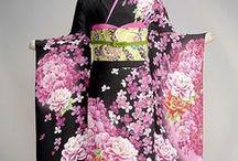 Kimono / Traditional Japanese wear: Furisode, Kurotomesode, Irotomesode, Houmongi,Tsukesage, Mofuku, Haori, Michiyuki, (Naga)Juban, Hakama.