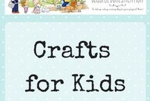 Crafts for Kids / Children's arts and crafts, suitable for kids of all ages. Crafts for kids to make.