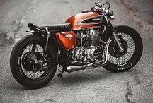 Cafe Racer's / Cafe Racer ; Beards, Helmets; Clothes for riding; Motorcycles