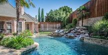 Tropical-Inspired Landscaping / Landscape design with tropical influence in Dallas, Texas area.