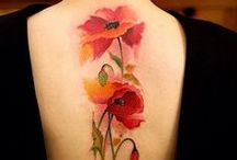Watercolor flower tattoo / #tattoo #flower #watercolor
