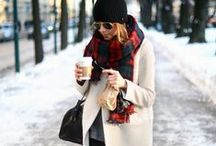 Fall.Winter.STYLE / Everyday outfit inspiration for those chilly months.  Layers. Warm Colours. Leather. Knit. Texture. Scarves. Coats.  Bundled. Winter. Autumn.