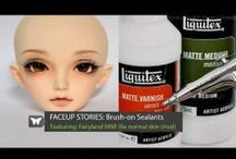 BJD Face up Videos Tutorials / Videos to show you how to create your own ooak face make ups.