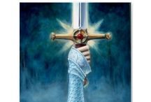 Excalibur, Avalon medieval era / Merlin, lady of the lake, king Arthur, lancelot and many more