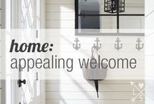 home | appealing welcome / curated by M.M. Ching / by Life Styled Lovely
