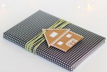 Simple Life | Wrapping / Gift wrap, tags, holiday cards including DIY and simple inspiration
