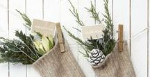 Christmas | Natural / Christmas decorating with natural objects. Scandi style. Colour inspiration.