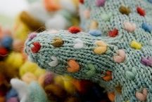Mittens / Mittens made from knitting, crochet or felt