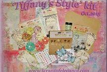Scraps of Elegance Scrapbook Kits / Our Scraps of Elegance scrapbook kit club monthly kits