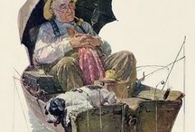 Norman Rockwell , The Artist / My Favorite Artist - Norman Rockwell / by Rita Smith
