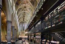 Library + Bookstores / by Rina Vela Interior Design
