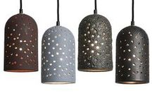 Brute Pendants / Create a stunning light filled environment with our Brute Pendants. Each pendant is unique and beautifully finished in our new lava, metallic, and rust glazes. Select from Rust Red, Slate Grey Lava, Kelp Green Lava, and Burnished Metallic Black. / by J Schatz