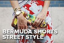 Bermuda Shorts Street Style / Give your wardrobe a little island vibe. From the pink sandy beaches to the hip cafes, Bermuda shorts keep local islanders looking chic.