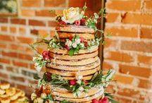 Cakes: Naked Cakes / Naked wedding cakes. Wedding cakes without fondant or frosting.  #wedding #cake #weddingcake #nakedcake #nakedweddingcake