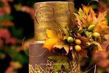 Cakes: Fall/Autumn / Celebrate your fall wedding with a beautiful autumnal wedding cake. #wedding #cake #weddingcake #fallwedding #fallcake #fallweddingcake #autumnwedding #autumncake #autumnweddingcake