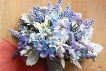 Bouquets: Blue / Blue bridal bouquets. #wedding #weddingbouquet #bridalbouquet #bluewedding #somethingblue #bluebouquet #blueweddingbouquet #bluebridalbouquet