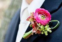 Boutonnieres: Blush and Pink / Blush and pink boutonnieres. #boutonnieres #buttonholes #groom #groomflowers #wedding #blushboutonnieres #blushbuttonhole #pinkboutonnieres #pinkbuttonholes