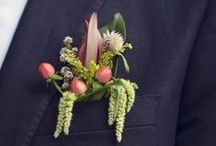 Boutonnieres: Green and Botanical / Boutonnieres for your green botanical wedding. #boutonnieres #buttonholes #groom #groomflowers #wedding #greenboutonniere #greenbuttonhole #botanicalboutonniere #botanicalbuttonhole #botanicalwedding