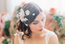 Bridal Headgear: Birdcage Veils / Birdcage veils to top off your bridal look. #wedding #bridal #bridalaccessories #weddingaccessories #headpiece #bridalheadpiece #bridalstyle #weddingstyle #birdcageveil #bridalhair #weddinghair