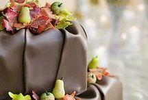 Cakes: Chocolate / Lovely chocolate wedding cakes. #wedding #cake #weddingcake #chocolatecake #chocolateweddingcake
