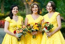 Bridesmaids & Feminine: Yellow / Yellow bridesmaid dresses..  #wedding #bridesmaid #bridesmaiddress #yellowbridesmaiddress
