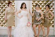 Bridesmaids & Feminine: Metallics / Sparkling metallic bridesmaid dresses.  #wedding #bridesmaid #bridesmaiddress #metallicbridesmaiddress #silverbridesmaiddress #goldbridesmaiddress #copperbridesmaiddress #bronzebridemaiddress #rosegoldbridesmaiddreess