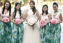 Bridesmaids & Feminine: Prints & Multi / Beautiful print and multi-color bridesmaid dresses.   #wedding #bridesmaid #bridesmaiddress #printbridesmaiddress #ombrebridesmaiddress #multicolorbridesmaiddress