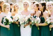 Bridesmaids & Feminine: Green and Mint / Beautiful bridesmaid dresses in shade of green.  #wedding #bridesmaid #bridesmaiddress #greenbridesmaiddress #mintbridesmaiddress