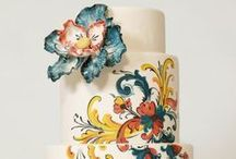 Cakes: Painted / Beautiful hand painted wedding cakes.  #wedding #cake #weddingcake #paintedwedding #paintedcake #paintedweddingcake #watercolorwedding #watercolorcake #watercolorweddingcake