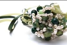 Bouquets: Beads and Wire / Bridal bouquets made of beaded flowers and wire. #wedding #weddingbouquet #bridalbouquet #beadbouquet #beadbridalbouquet #wirebouquet #wirebridalbouquet #industrialwedding #industrialbouquet #bouquetalternative #industrialbridalbouquet #alternativebridalbouquet #weddingbouquetalternative #alternativebouquet