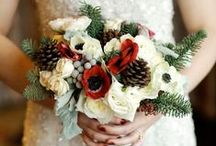 Bouquets: Winter / Winter themed bridal bouquets. #wedding #weddingbouquet #bridalbouquet #winterbouquet #winterbridalbouquet #winterweddingbouquet