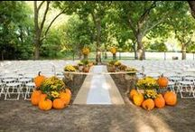 Aisles and Altars: Fall / Fall/Autumn wedding ceremony decor. #fall #autumn #fallwedding #autumnwedding #seasonalwedding #fallweddingsstyle #autumnweddingstyle #fallthemedwedding #autumnthemedwedding #fallweddingdecor #autumnweddingdecor