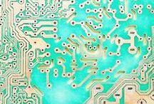 circuit board - textures / circuit board textures, graphics, Leiterplatte, Platine, Strukturen, Elektronik, grafik