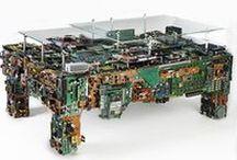 upcycling - circuit board / products made of recycled circuit boards, upcycling, jewelry, accessories, recycling, jewelery, earrings, stud, post earrings, necklace, collier, ring, pendant, cuff links, geek, cyberpunk, motherboard, graphic card, memory, electronic, resin, e-waste, elektroschrott, elektronikschrott, nerdschmuck, geekschmuck, techieschmuck, postapokalyptisch, cyberpunkschmuck, cyberpunk, nerd, geek, techi, dekoration