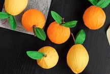 Foam Fruit / There are so many great DIY fruit ideas, here they are...all in one place :)