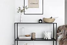 Home Staging - Shelving Inspiration / | Ideas for Wall Shelves | Built Ins | Console Decor | Book Shelves | Pipe Shelving |