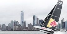 Flying On Water – New York to Bermuda / The ultimate test before the 35th America's Cup in Bermuda in 2017! In an epic adventure to foil from New York to Bermuda, 40-knot winds (45mph) and waves up to 25 feet hammered RedBull Team Falcon's 46-foot foiling catamaran on the open ocean. http://www.gotobermuda.com/special-program/35th-americas-cup