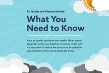 Air Pollution, Physical Activity / Air Quality, Air Pollution, Health and Physical Activity, Infographic, Video