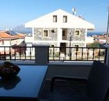 First Floor Units / The first floor has two identical units that share a terrace at the building entry, enjoying spacious balconies, overlooking downtown Datca.  Both units are one bedroom flats at 60 square meters. The units each have a queen size bed, two double sofabeds, modern kitchen equipments, refrigerator, air conditioning and an LCD screen TV. The facility has 24 hours hot water.
