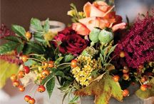 Gobble Gobble / Fall floral arrangements and Thanksgiving table decoration